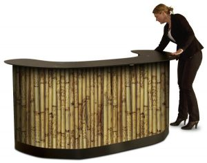 Custom Trade Show Podium Case w. Wood Texture