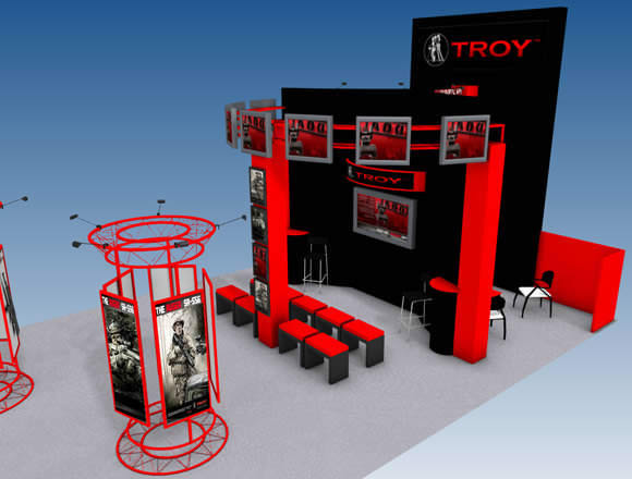 Troy Industries Trade Showwith Separate Viewing Area