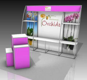 functional and portable outrigger shelf standing for commercial event