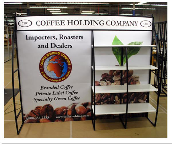 Banner stands for merchandising fixture