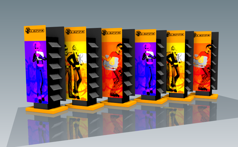 Changeable banner stands