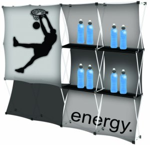 Square Energy Fabric Montage Display