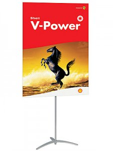 Non Retractable Banner Stand Graphic Trade Show Display