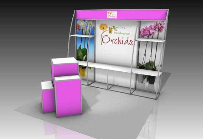 OutRigger Shelf System Trade Show Display