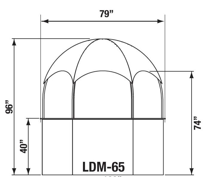 promotional dome kiosk dimension plan