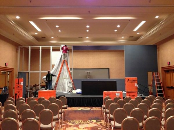 Setting Up Trade Show Frame System