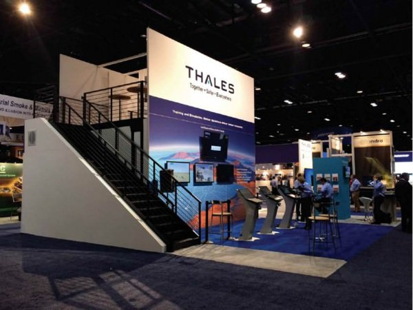 Double Decker Trade Show Booth with VIP Presentation area