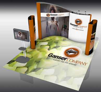 Trade Show Tube Frame Systems Display