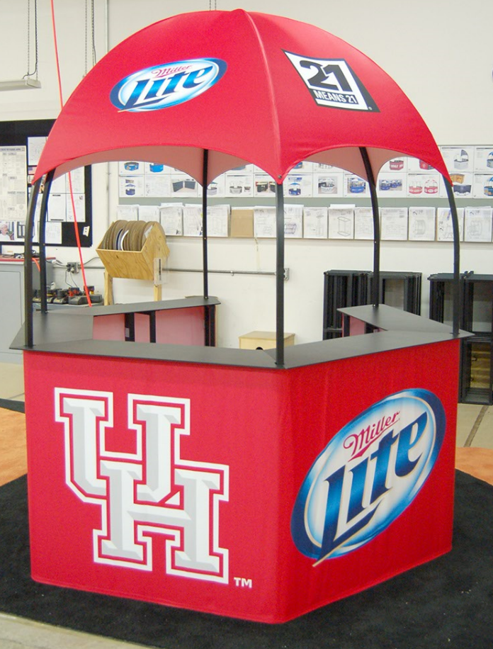 kiosk dome marketing event outside