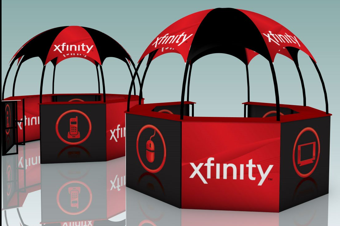 xfinity dome kiosk promotional event