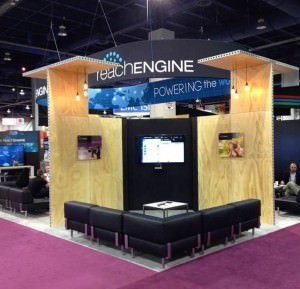 Custom trade show rental display