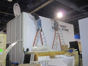 building custom modular trade show display