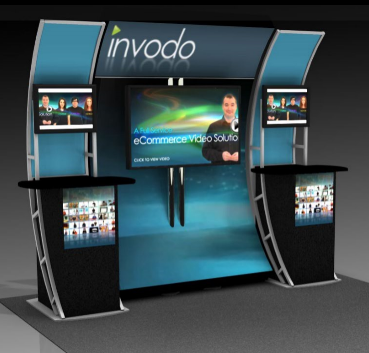 Large informational media standing event marketing