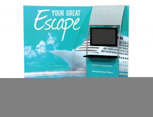 Trade Show Display with Video screen